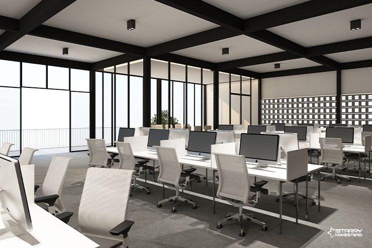 Minimalist Workspace Office interior Design