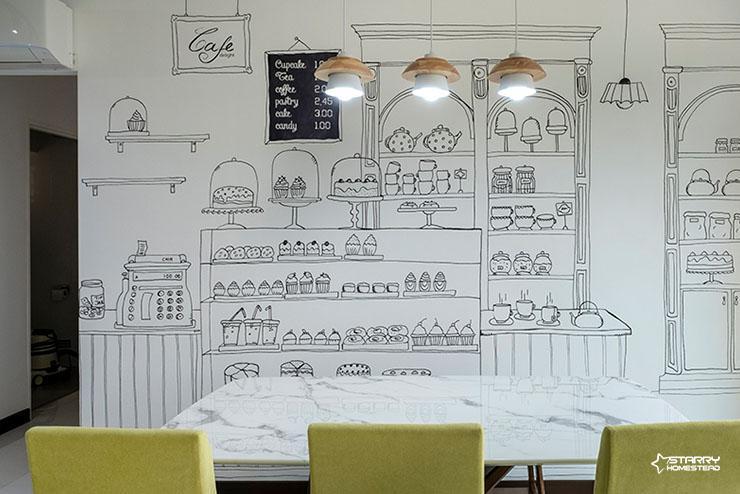 Wall art interior design in Singapore