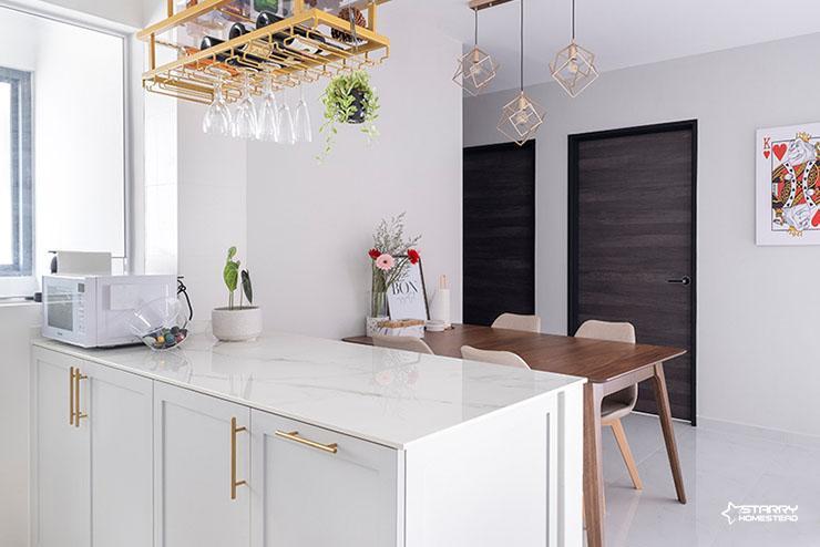 White mdoern themed interior design