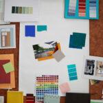 color mood board for home interior design